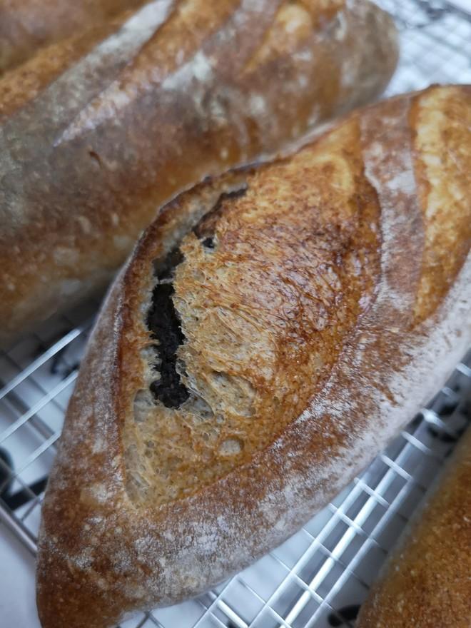 天然酵母黑芝麻法国面包的做法