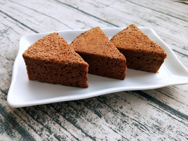 蒸蛋糕(可可味)的做法