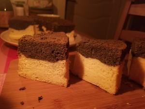 黑芝麻酱戚风蛋糕的做法 步骤15