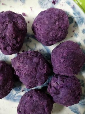 简单美味的炼奶紫薯包的做法 步骤4