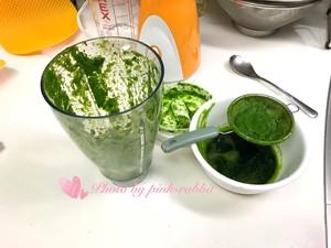 菠菜汁戚风.12-14-17中空加高的做法 步骤2