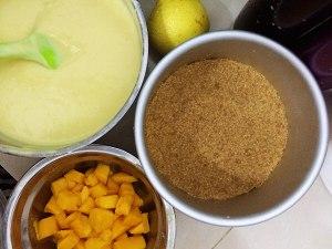 芒果芝士慕斯蛋糕的做法 步骤6