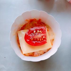 健康的胡萝卜番茄芝士咸马芬的做法 步骤3