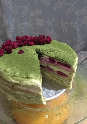 抹茶千层蛋糕的做法 步骤8