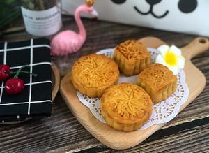 豆沙&紫薯月饼的做法 步骤13