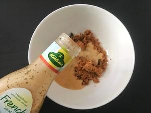 冠利沙拉酱-全麦肉松堡的做法 步骤4