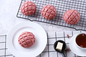 一次发酵的粉色菠萝包,连茶餐厅的招牌菠萝油都快被它取代!的做法 步骤21