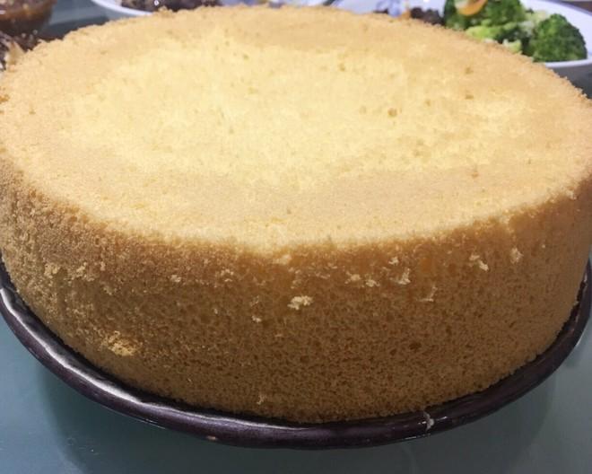 8寸圆模海绵蛋糕的做法