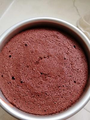 六寸红丝绒戚风蛋糕的做法 步骤10