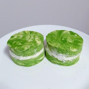 抹茶酸奶花纹小蛋糕的做法 步骤5