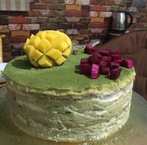抹茶千层蛋糕的做法 步骤6