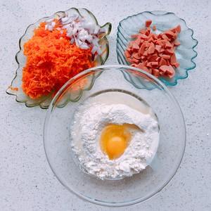 健康的胡萝卜番茄芝士咸马芬的做法 步骤2