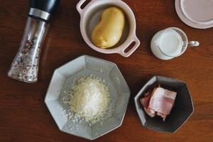 培根芝士焗薯蓉的做法 步骤1