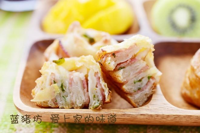 葱香培根酥卷的做法