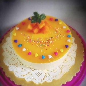 芒果慕斯蛋糕的做法 步骤12