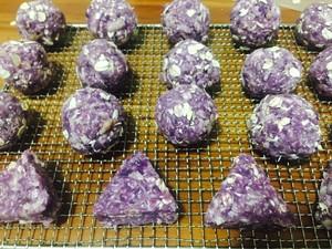 狗零食 紫薯鸡肉狗饼干的做法 步骤3