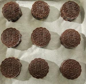 酒心巧克力月饼的做法 步骤11