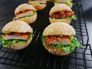 小汉堡包【蒸烤箱版】的做法 步骤12