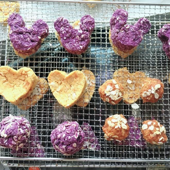 狗零食 紫薯鸡肉狗饼干的做法