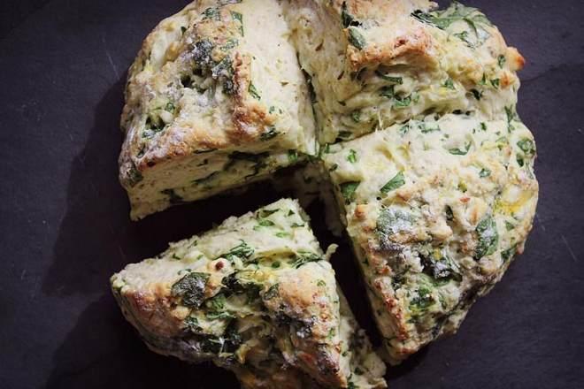 菠菜南瓜奶酪丹波面包丨健康·烘焙的做法