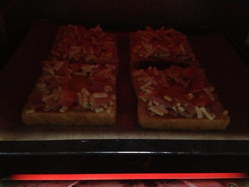 吐司太阳蛋披萨的做法 步骤8