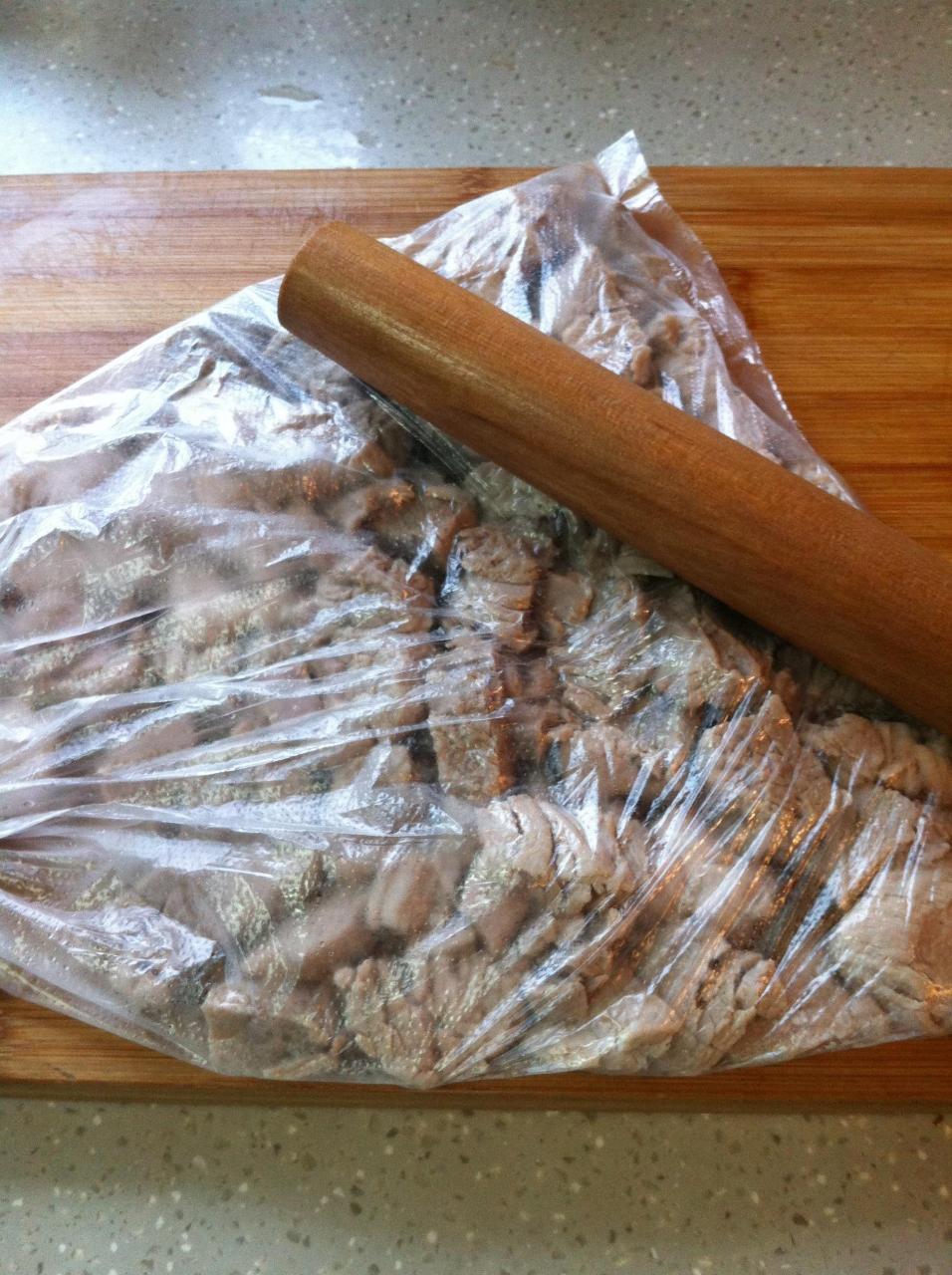 面包机自制肉松的做法 步骤3