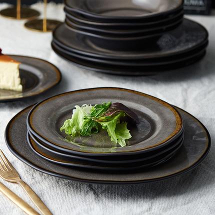 网红餐盘子创意不规则家用餐具陶瓷菜盘西餐盘鱼盘牛排盘沙拉碗盘