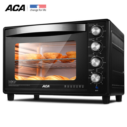 北美电器(ACA) 38L电烤箱家用上下火独立控温热风循环 ATO-HB38HT 38升