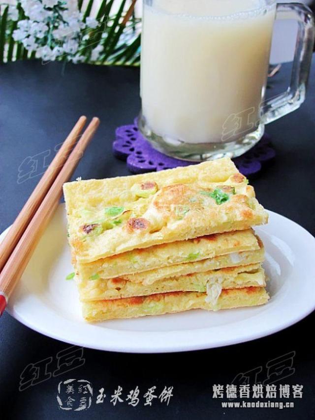 玉米鸡蛋饼,玉米粉和面粉要放多少才能做得香嫩?
