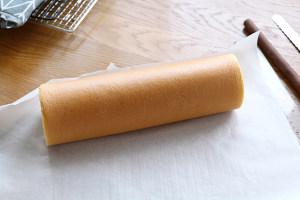 黄桃蛋糕卷(小四卷)的做法 步骤13