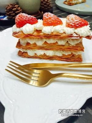 手抓饼简易版拿破仑蛋糕的做法 步骤5